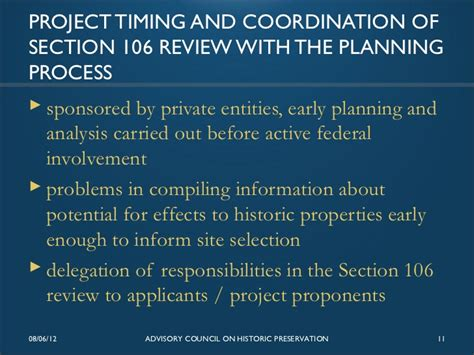 section 106 funding section 106 review for energy projects issues and