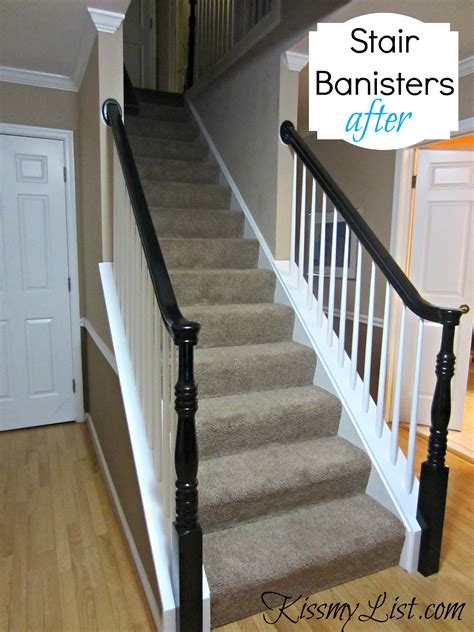 how to paint a stair banister my humongous diy stairs fail kiss my list