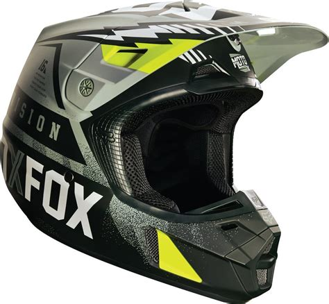 motocross closeout gear 179 08 fox racing v2 vicious dot helmet 234777