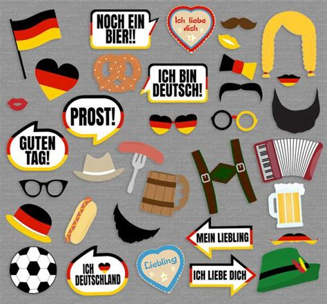 free printable oktoberfest photo booth props 35 x german photobooth party props printables pixels and