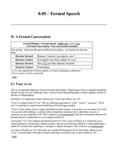 formal email format french french language course