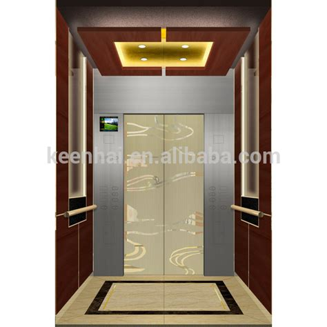 elevator cabin interior stainless steel etching pattern elevator cabin