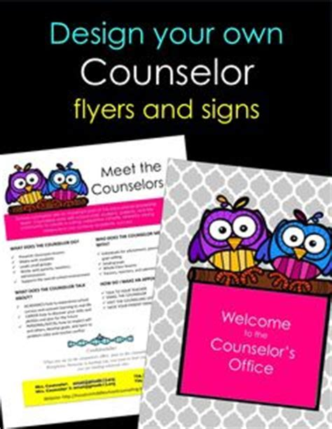 1000 Images About School Counseling On Pinterest School Counselor School Counseling And Make Your Own Flyers Templates