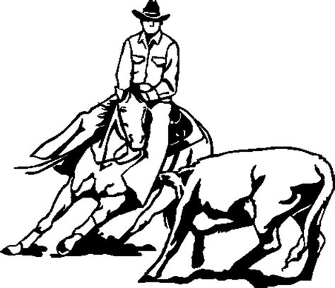 Cutting Horse Coloring Page | cutting horse coloring page boot coloring page panca