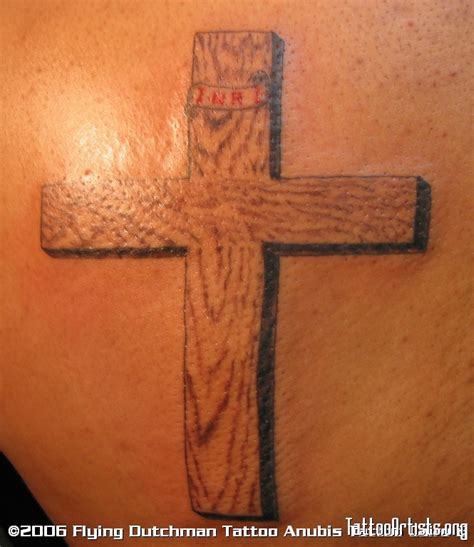 wooden cross tattoo pin wooden cross tattoos for on