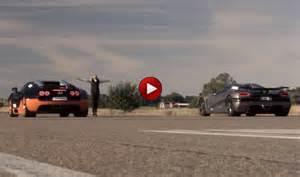Bugatti Veyron Vitesse Vs Koenigsegg Agera R Drag Race Koenigsegg Agera R Vs Bugatti Veyron Vitesse