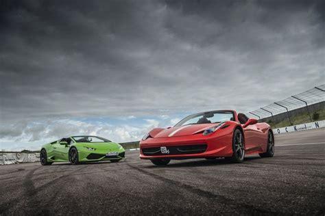 lamborghini huracan vs 458 458 vs huracan supercar driving experience package