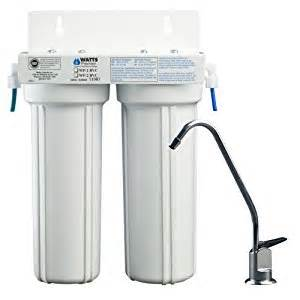 Faucet Mount Water Filter Reviews Watts 500313 2 Stage Undercounter Lead Cyst Amp Voc
