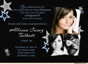 18th birthday ideas dreams quote birthday invitation photo black white