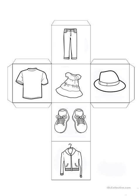 esl printable dice clothes dice worksheet free esl printable worksheets