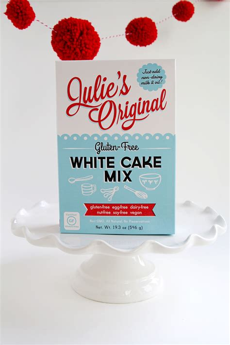 Mixing White Original gluten free vegan allergy free white cake mix julie s