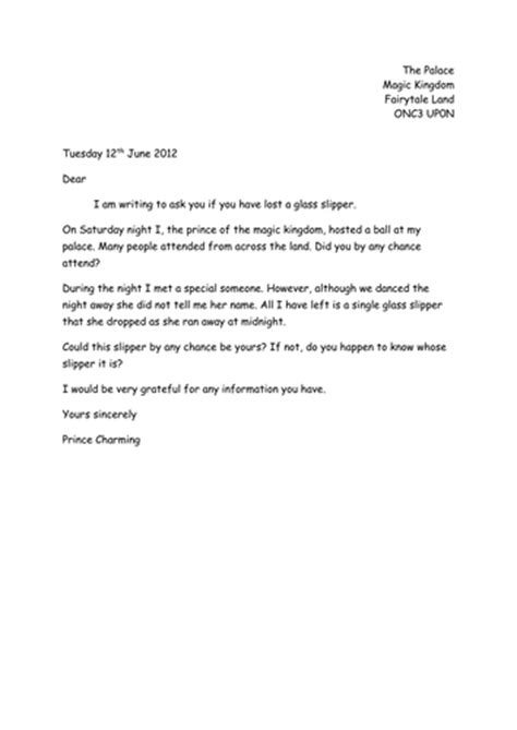 Apology Letter Exle Ks1 Differentiated Fairytale Letters By Hannah Smith3107 Teaching Resources Tes