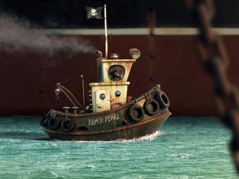 little cartoon boat alexandre trevisan boat ship cartoon ocean sea tug tugboat