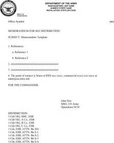 Dod Memo Template by Army Memorandum Template 1 For Free Formxls