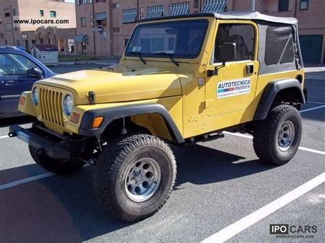 Jeep 4 0 Horsepower 2002 Jeep Wrangler 4 0 Sport Cat Car Photo And Specs