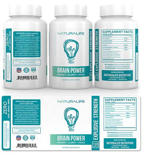 Brain Booster Supplement Label Template Design Supplement Label Template