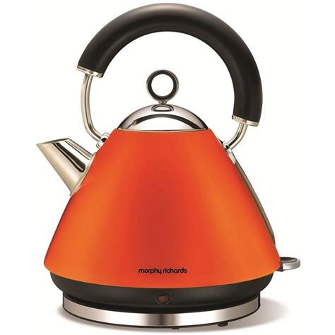 Kettles And Toasters At Argos 43828 morphy richards accents pyramid kettle orange