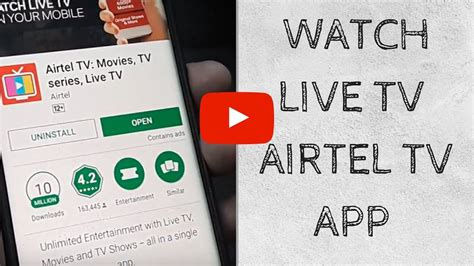 live tv on mobile airtel tv live tv on your mobile