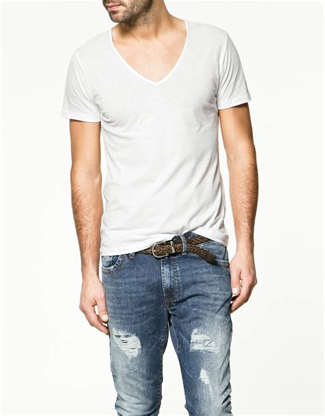 Zara Shirt 2 zara deluxe t shirt in white for lyst
