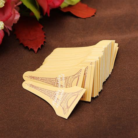 Cake Topper 50pcs 50pcs eiffel tower cupcake cake insert card cake toppers decoration alex nld