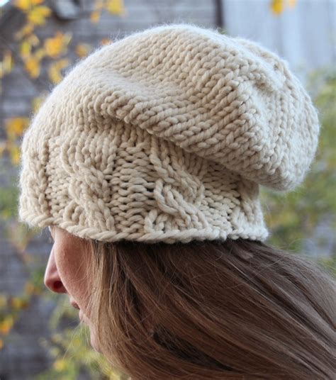 cable knit slouchy hat pattern cable hat knitting patterns in the loop knitting