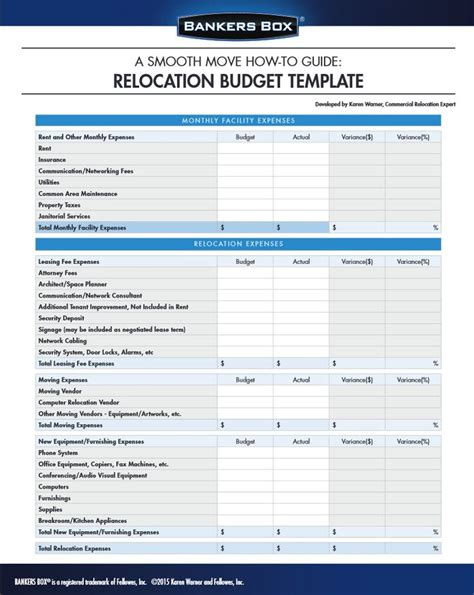 Manage Your Budget For Moving The Office With This Template Office Moving Organizer Moving Expenses Template