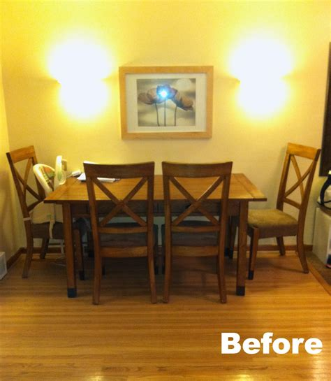 Dining Room Set Makeover by Dining Set Makeover Plastic Plate Wall Clutter