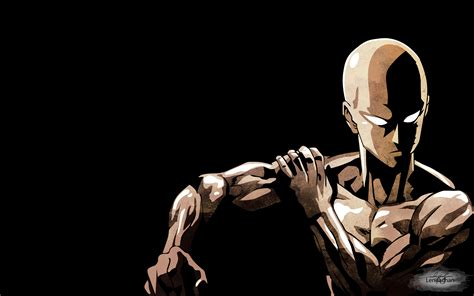saitama  punch man wallpaper  lennachan daily anime art