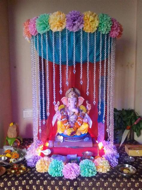 decoration at home ganpati decoration ideas at home 2017 images with