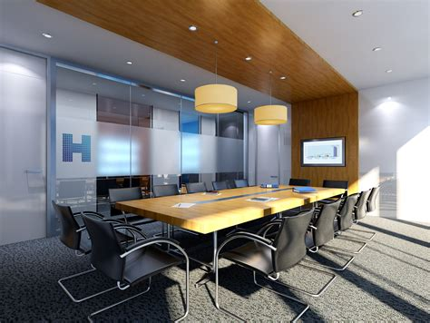 3d design office with meeting room download 3d house conference room 3d model rigged max cgtrader com