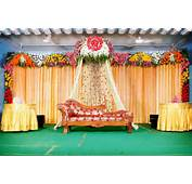 Jana Poojitha Services Cloth &amp Flower Decorated Stage  002