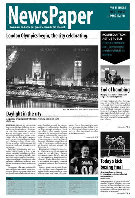 indesign newspaper  pages  blackinkbcn graphicriver