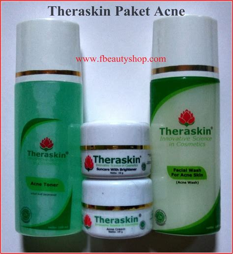 Acne Theraskin theraskin paket normal acne dan paket flek