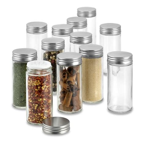 Small Glass Bottles For Spices Spice Jar Replacements Set Of 12 Williams Sonoma
