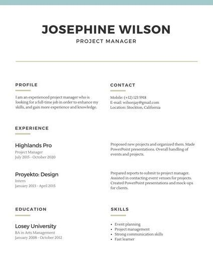 Simple Resumes by Customize 527 Simple Resume Templates Canva