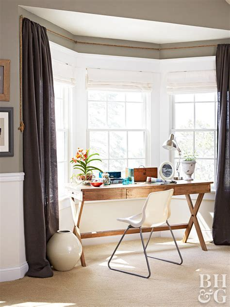 Bay and Bow Window Treatment Ideas   Better Homes & Gardens