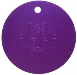 Tesla Purple Plate Tesla Purple Energy Disc