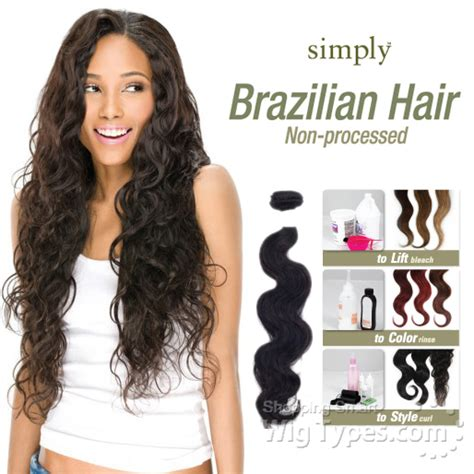 brasilian remy hair outre simply 100 non processed brazilian virgin remy