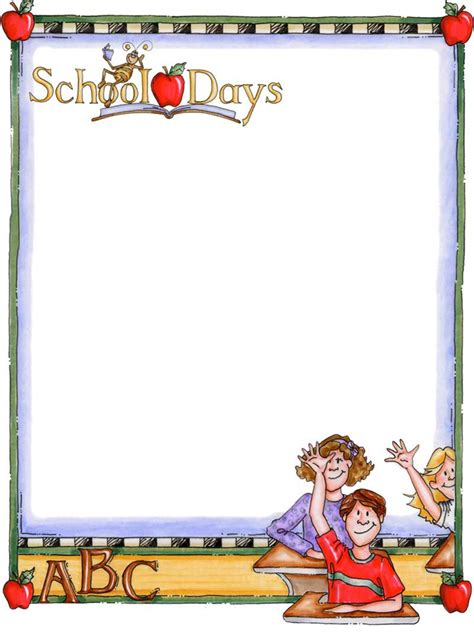 Back To School Bulletin Board Writing Paper Templates Ppt Garden New School Year Pinterest School Themed Powerpoint Templates