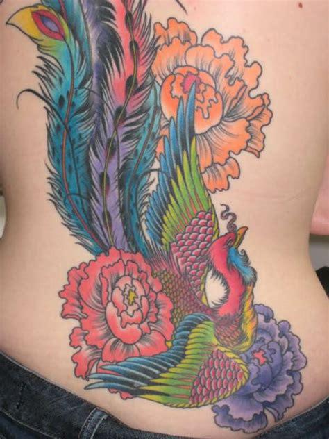phoenix tattoo with flowers phoenix tattoo images designs