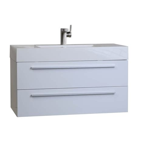 31 25 in wall mount modern bathroom vanity in high gloss