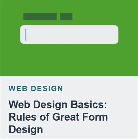 html design basics tutsplus web design basics rules of great form design