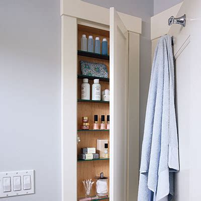 get sneaky bathroom storage solutions sunset