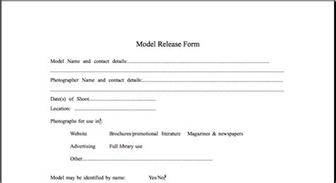 Model Release Forms For Photographers In Australia Forum Model Release Form Template Legal Simple Model Contract Template
