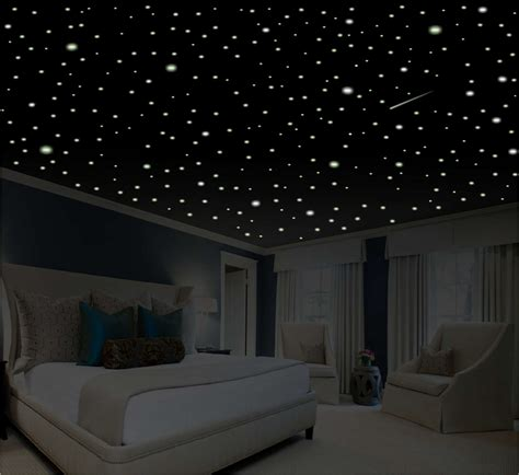 bedroom with stars romantic bedroom decor star wall decal glow in the dark