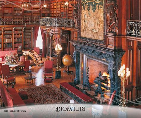 Fireplace Asheville by Biltmore House Library Photo