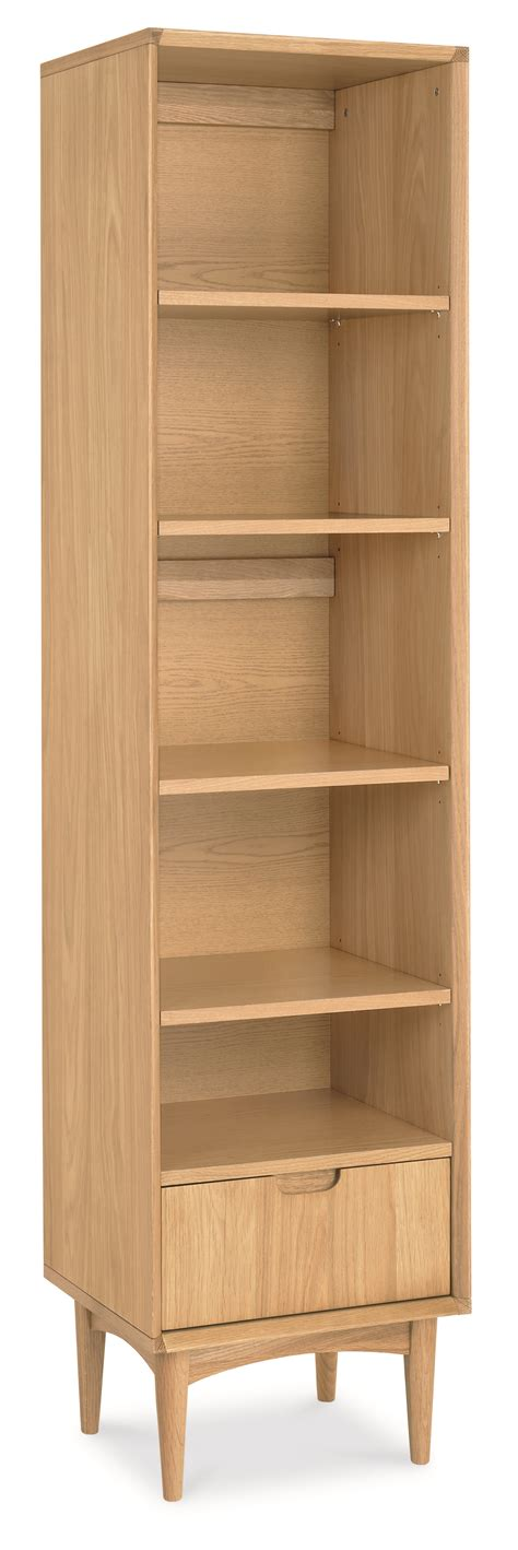 oak narrow bookcase oslo oak narrow bookcase oak furniture solutions