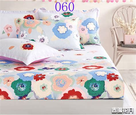 twin size bed sheets colorful flowers cotton fitted sheet twin full queen size