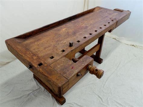 banchi da falegname vecchi vecchio banco da falegname viti e morse in legno fianco