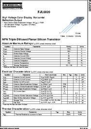 datasheet transistor j6920 fjl6920 datasheet npn diffused planar silicon transistor